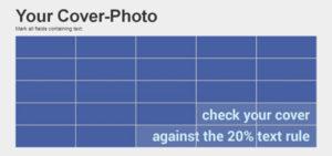 Outil pour vérifier les 20% de texte dans la couverture de page Facebook