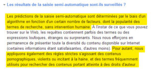 Saisi semi-automatique de Google