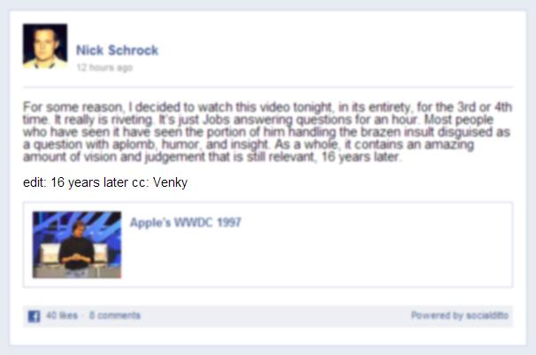 La possibilité d'éditer une publication dans Facebook