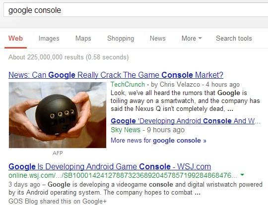 La OneBox de Google News affiche une grande image
