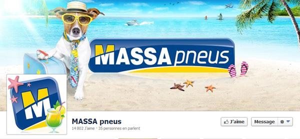 Page Facebook de Massa pneus