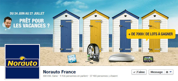 Page Facebook de Norauto France