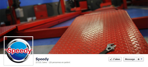 Page Facebook de Speedy