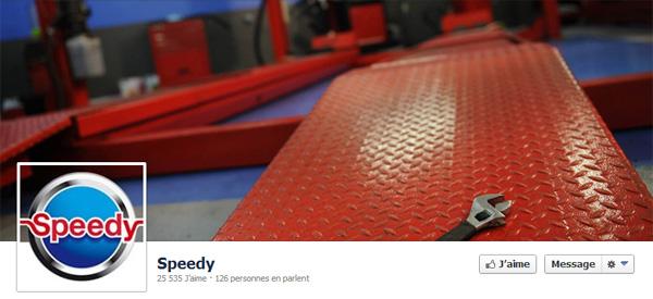 Page Facebook de Speedy