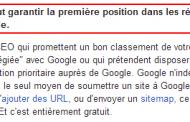 Un client veut une garantie en 1ère position de Google, que faut-il lui répondre ?