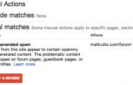 Nouveau : Les pénalités manuelles dans Google Webmaster Tools