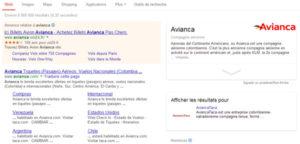 Knowledge Graph de la compagnie aérienne Avianca