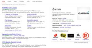 Knowledge Graph de la marque Garmin