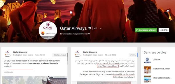 Google+ Qatar Airways