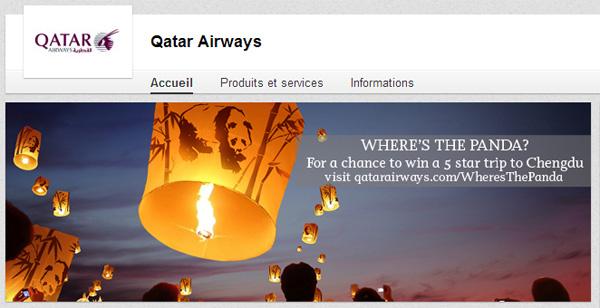 Page entreprise LinkedIn Qatar Airways