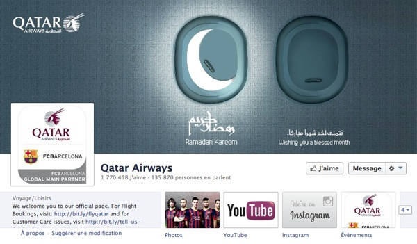 Fans Facebook de Qatar Airways