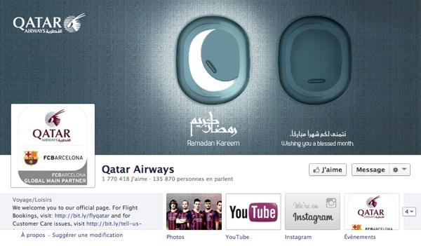 Fans Facebook de Qatar Airways