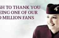 La page Facebook de Qatar Airways a atteint les 2 millions de fans