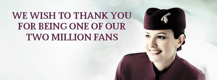 Qatar Airways : 2 millions de fans sur sa page Facebook