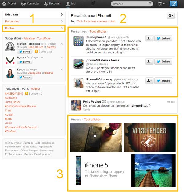 Twitter a sa recherche universelle