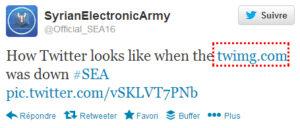 Twitter piraté par SEA (pirates syriens)