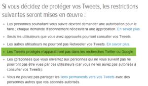 Version française: Tweets protégés s'afficheront dans les résultats de recherche de Twitter