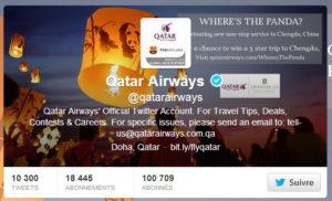 Twitter de Qatar Airways