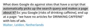 Spam report : signaler le contenu généré automatiquement dit Matt Cutts
