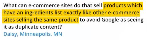 Matt Cutts : évitez le contenu dupliqué dans votre site e-commerce