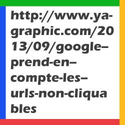 Google prend en compte les URLs non cliquables.
