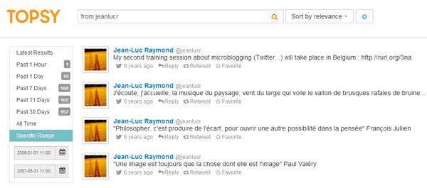 Historique des tweets publiques de @jeanlucr sur Twitter
