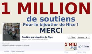 Faux fans de la page Facebook de soutien au bijoutier de Nice