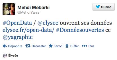 Le site www.elysee.fr ouvre ses données
