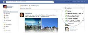 Trending topics (tendances) dans Facebook