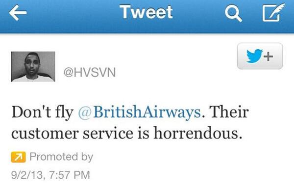 Tweet sponsorisé acheté par le compte Twitter @hvsvn