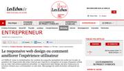 Le Cercle Les Echos : Le responsive web design ou comment améliorer l'expérience utilisateur