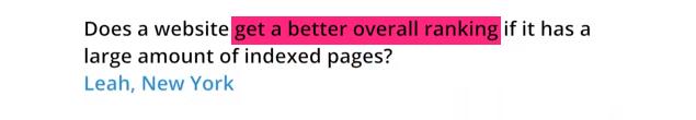 Matt Cutts : La création et l'indexation d'un grand nombre de pages web est équivaut à un meilleur référencement.