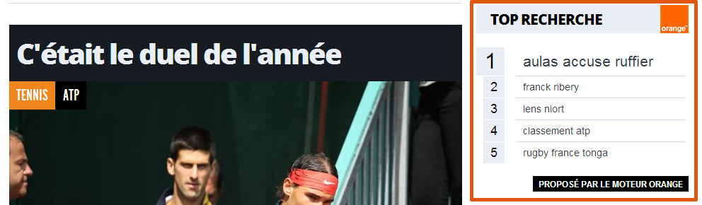 Top tendances dans Lequipe.fr