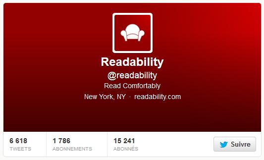 Readability dans Twitter