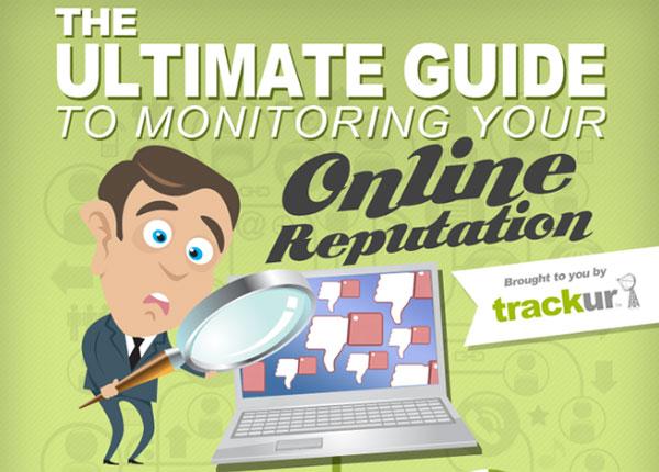 Guide e-réputation par Trackur (infographie)
