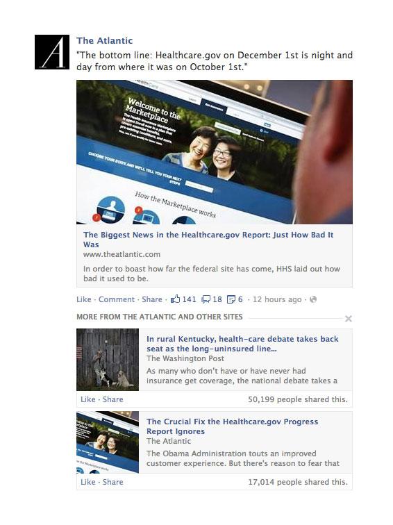 Les articles de qualité dans Facebook