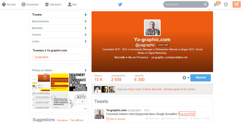 Onglets Twitter de @yagraphic