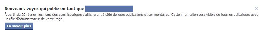 Administrateurs d'une page Facebook
