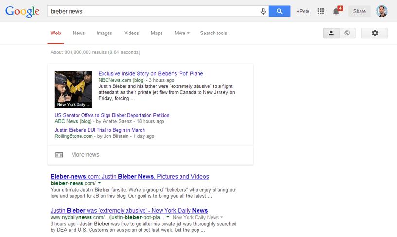 Google News : les nouvelles au format carte Google Now