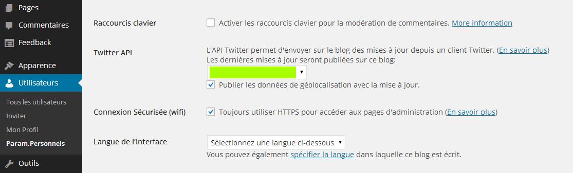 Activer sécurité HTTPS dans WordPress