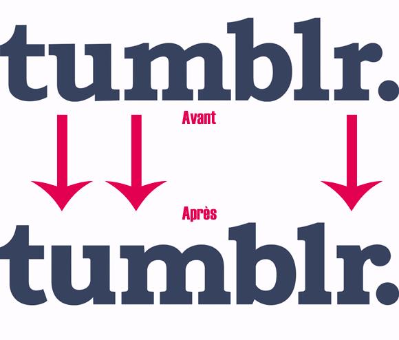 Nouveau logo de Tumblr