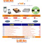 Design du site Grosbill.com en l'an 2000