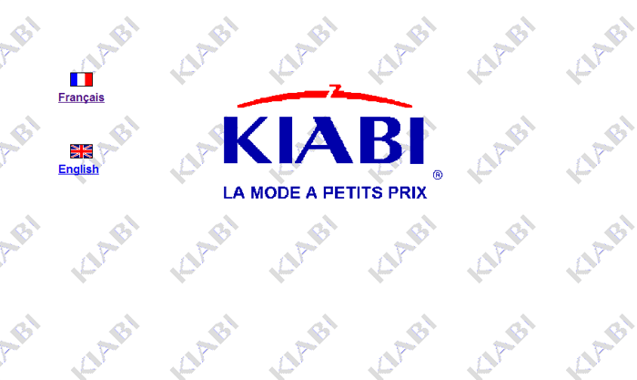Design du site Kiabi.com en l'an 2000