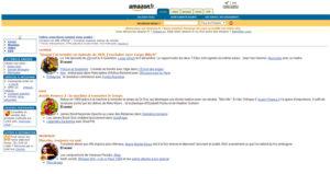 Design du site Amazon.fr en 2000