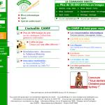 Design du site camif.fr en 2000