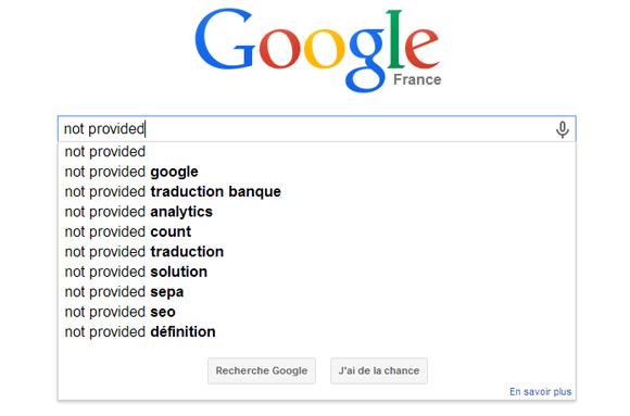 La fin du Not Provided grâce à Google Webmaster Tools