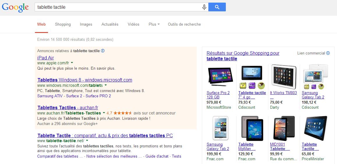 Ancienne version de Google.fr