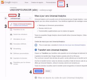 Activer Universal Analytics dans Google Analytics