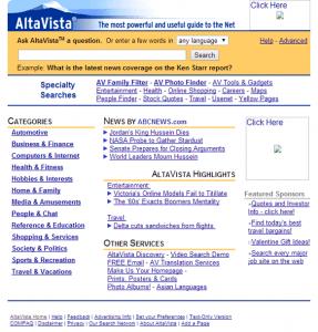 Moteur de recherche AltaVista