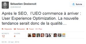 Nouvelle tendance 2014 : l'UEO ?